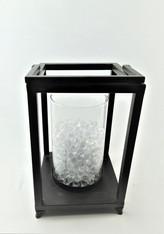Vase on Black Metal Base