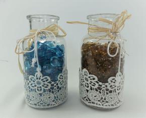 White Lace Jars