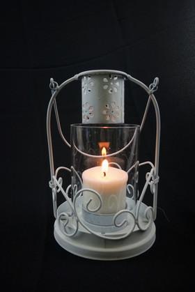 White Glaze Open Lantern