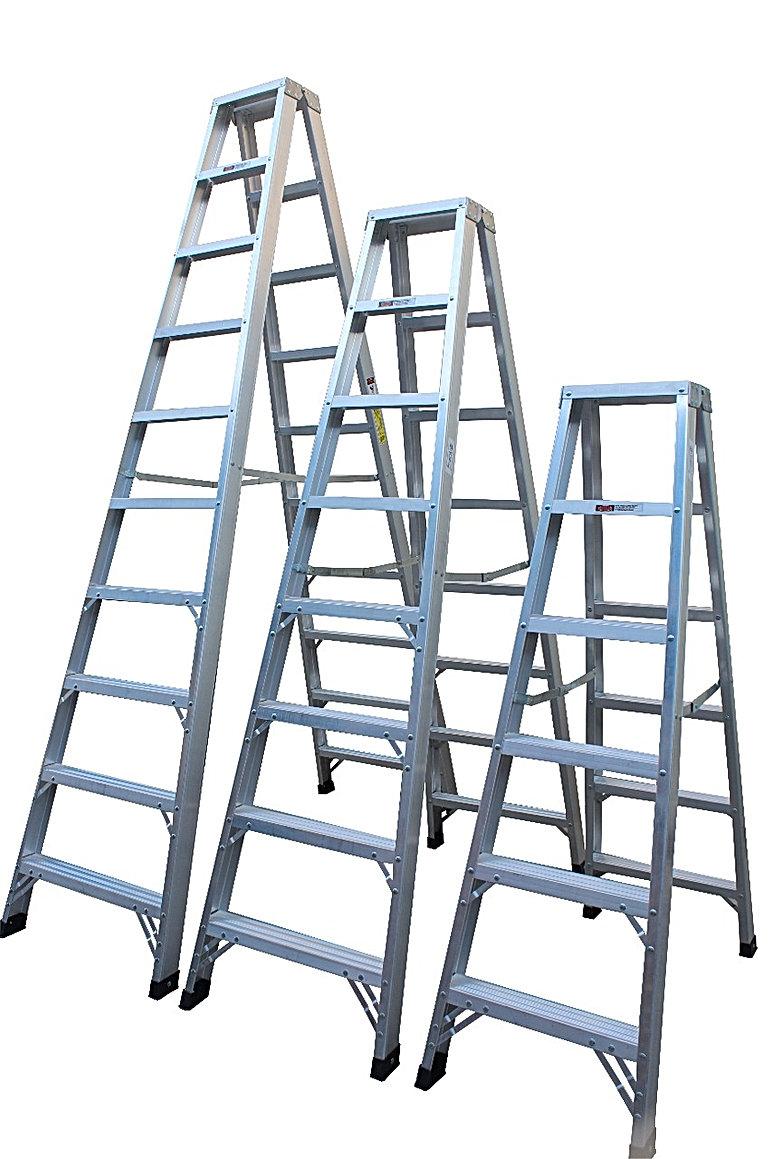 Aluminium Double Sides Ladder | Dubai | Unique Scaffolding