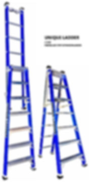 FIBERGLASS STEP EXTENSION LADDER SYDNEY MELBOURNE AUSTRALIA