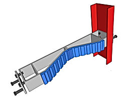 Ladder pole braket