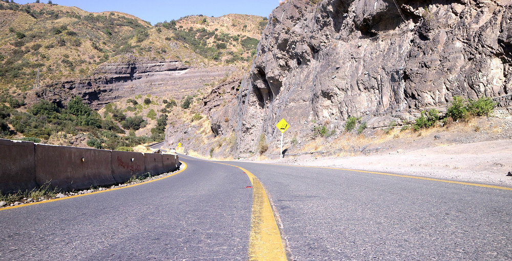 Estrada para chegar na represa