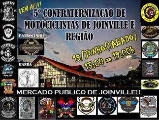 """""""Motos, amigos, Rock, and Roll e muitas histórias de viagens no Mercado Municipal de Joinville"""""""