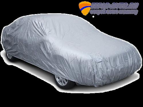 Защитный автомобильный тент-чехол. Материал PEVA. Универсальный.