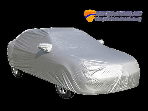 Защитный автомобильный тент-чехол. Ткань. Цвет серебро.