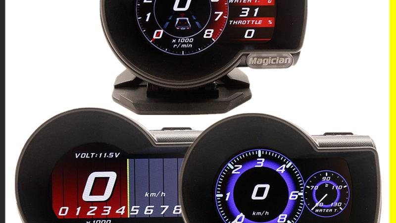 Magician OBD2 F835 Head Up Display Digital Boost Volt Speed Water Temp