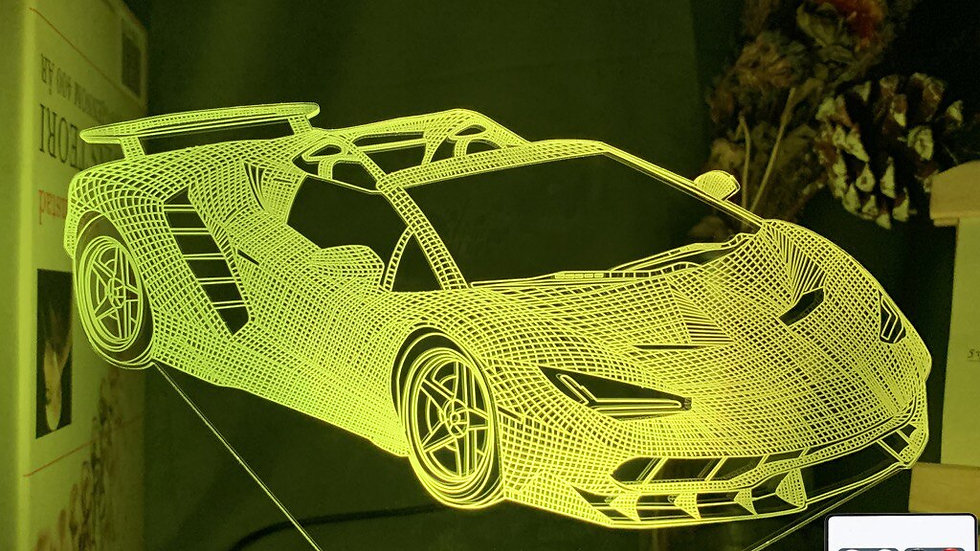 3d Illusion Lamp Sports Car Nightlight Color Changing Atmosphere Event