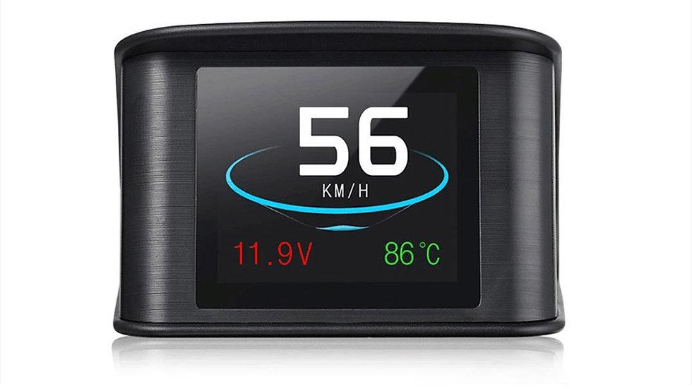 VJOYCAR Hud GPS OBD2 Speed Projector Digital Speed Fuel Temp Gauge Diagnostic