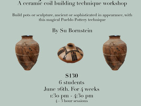 Clay vessel making class starts June 26!