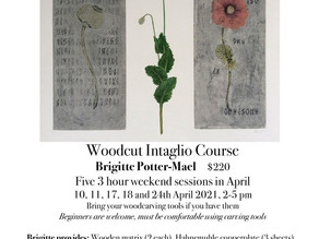 Woodcut Intaglio course starts April 10th!
