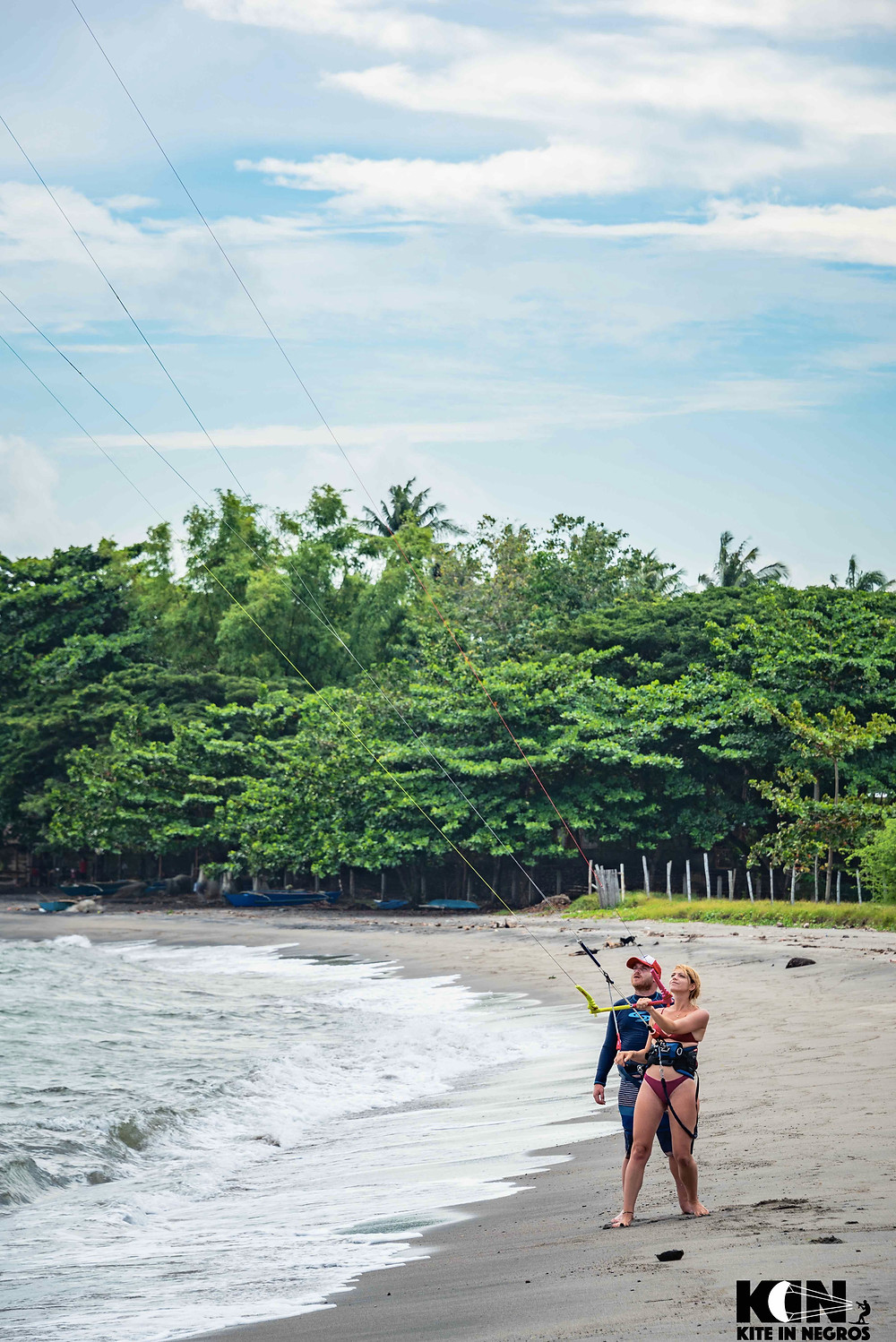Kitesurf in Philippines, no one else in the spot