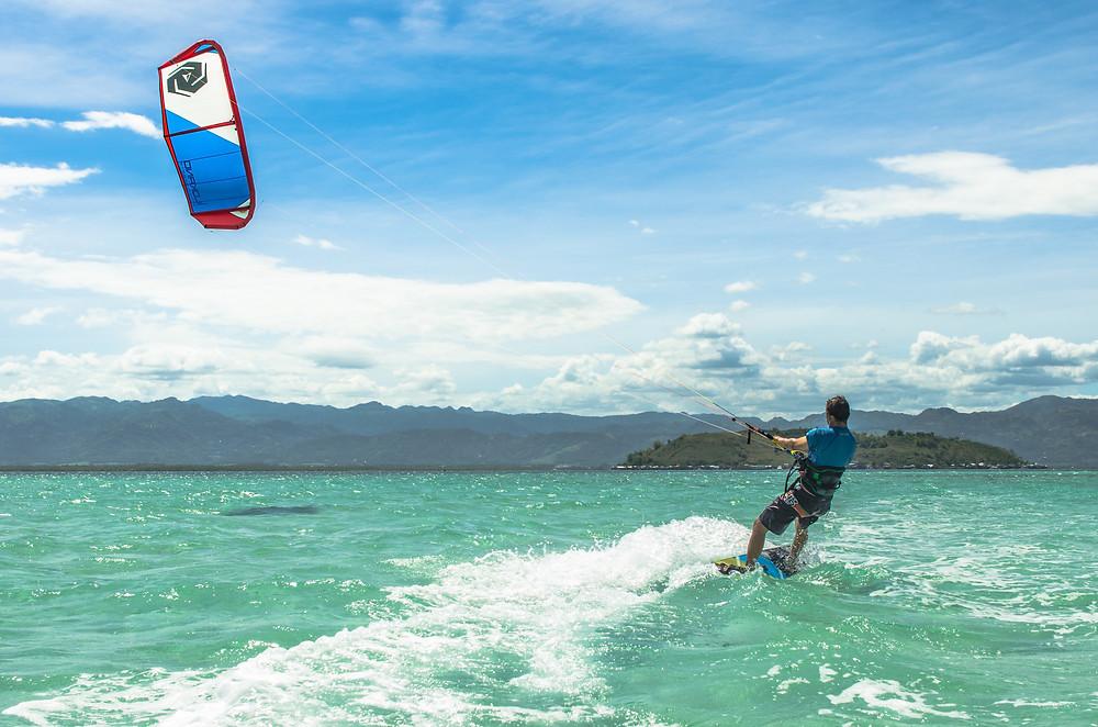 Kitesurfing at the Sandbar