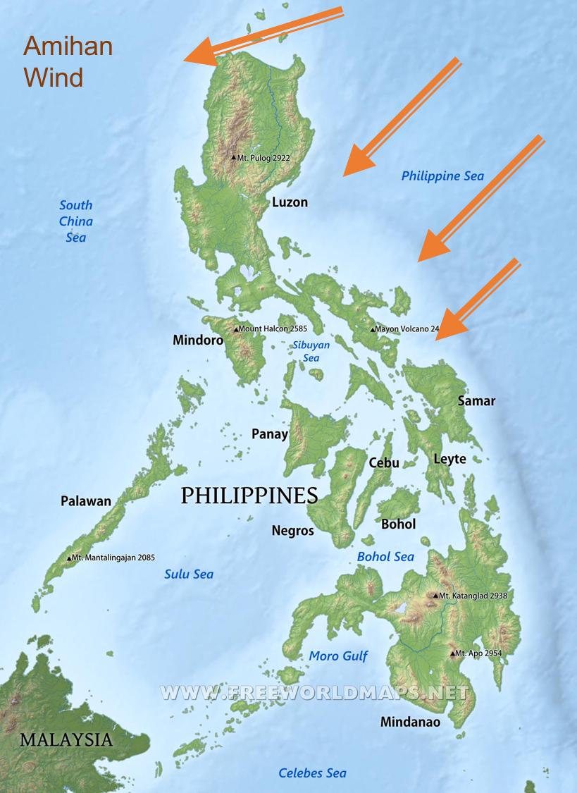 Kite wind amihan Philippines kite season