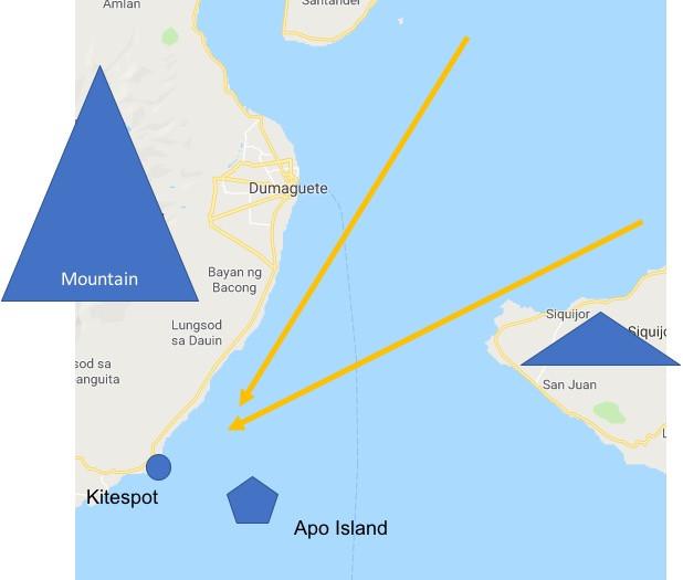 Zoom wind kitespot philippines wind venturi effect best spot Philippines