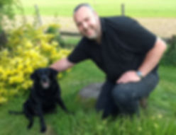 "Myself & the family pooch ""Tansy"""