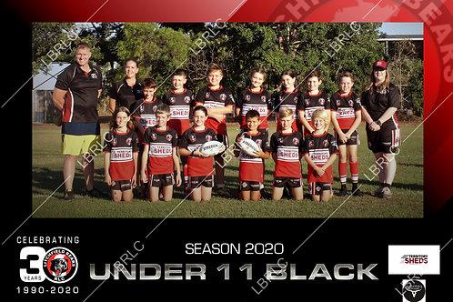 U11 Black Team Photo Print