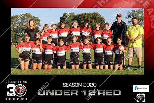 U12 Red Team Photo Print