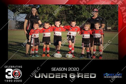 U6 Red Team Photo Print
