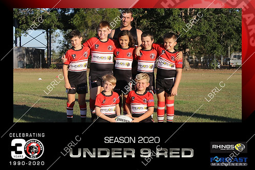 U9 Red Team Photo Print