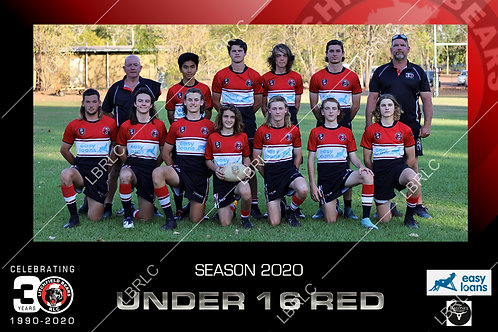 U16 Red Team Photo Print