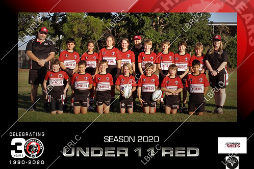 U11 Red Team Photo Print