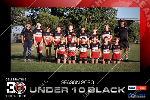 U10 Black Team Photo Print
