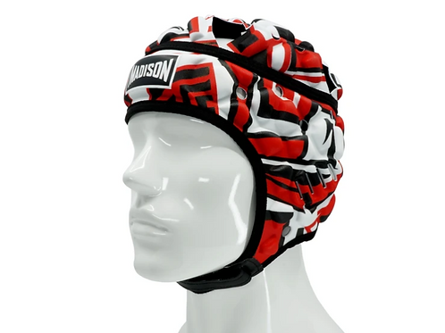 Headguard Red, Black and white