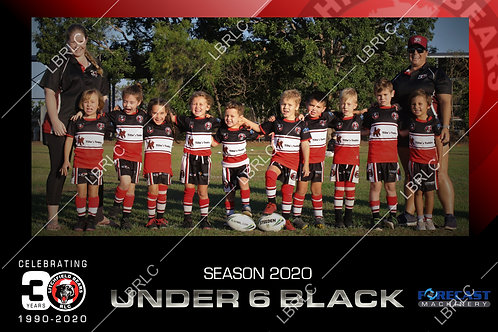U6 Black Team Photo Print