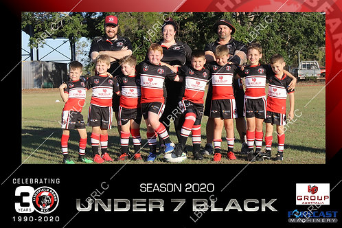 U7 Black Team Photo Print