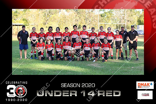 U14 Red Team Photo Print