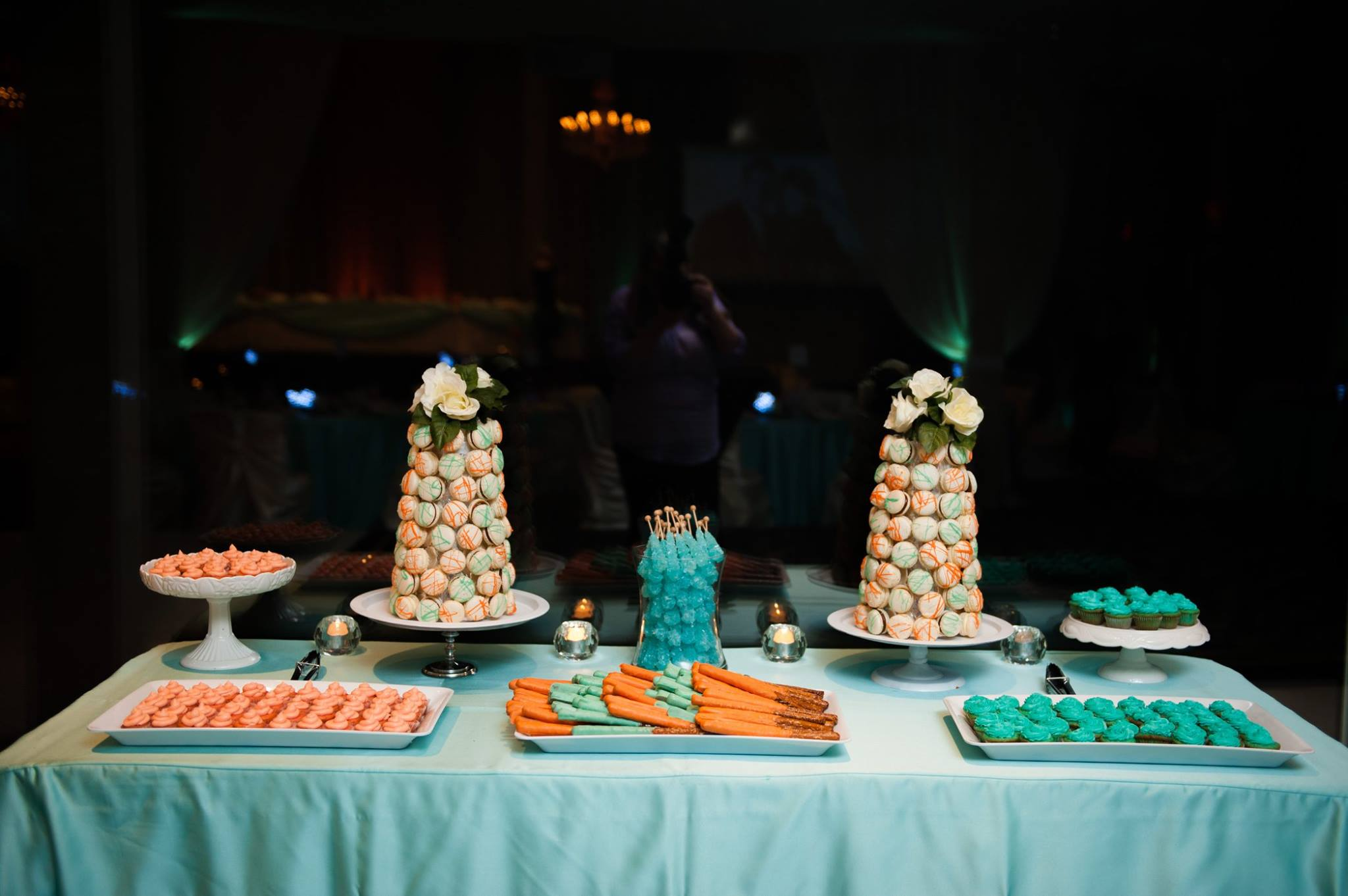 Orange Teal Sweets Table
