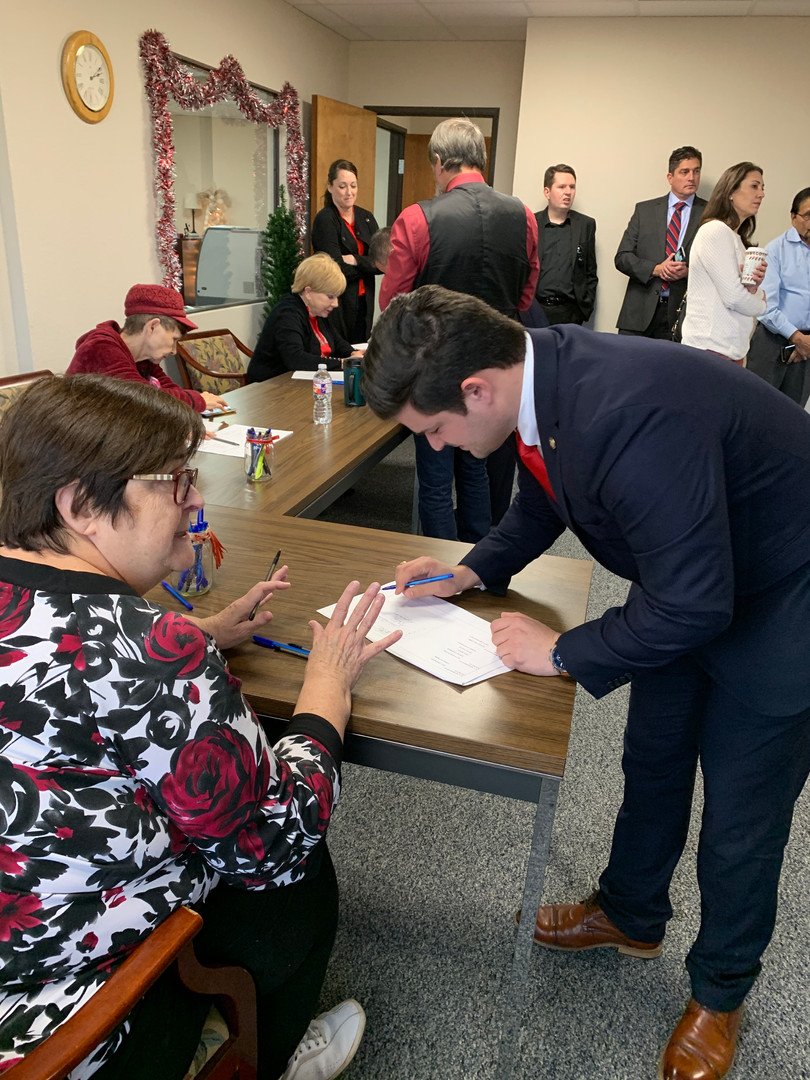 David Fegan at his ballot drawing in Tarrant County