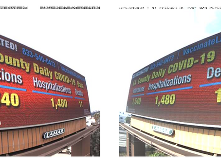 LACMA, Patient Care Foundation Launch Digital Billboard Campaign Sharing Daily COVID Data
