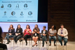 """""""Resources to Level Up Your Career"""" panel"""