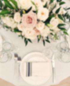 Light pink groom and groomsmen wedding boutonniere