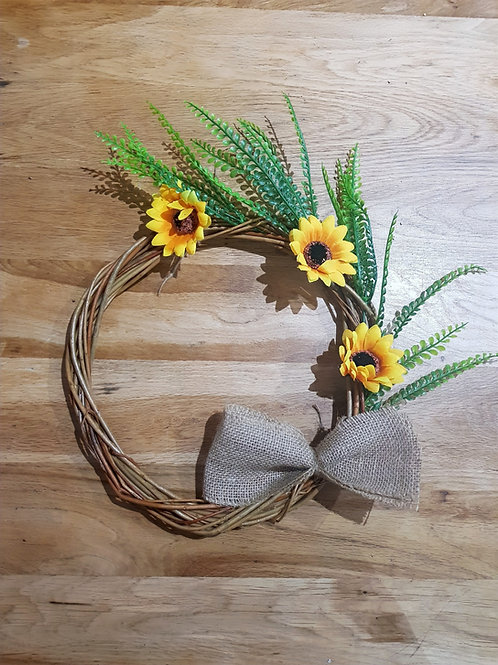 Sunflower Willow Wreath