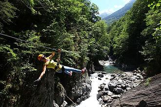 Tyrolienne - Val de Roland