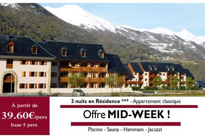 Promo mid-week: à partir de 198€ /4 nuits