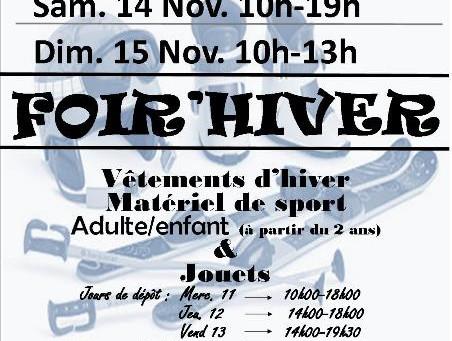 Foir'Hiver Du 14/11/2015 au 15/11/2015
