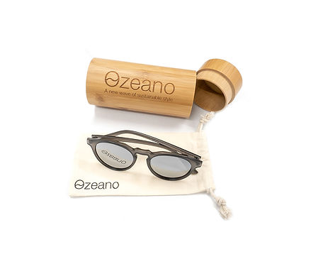 Ozeano Charcoal - Recycled plastic sunglasses