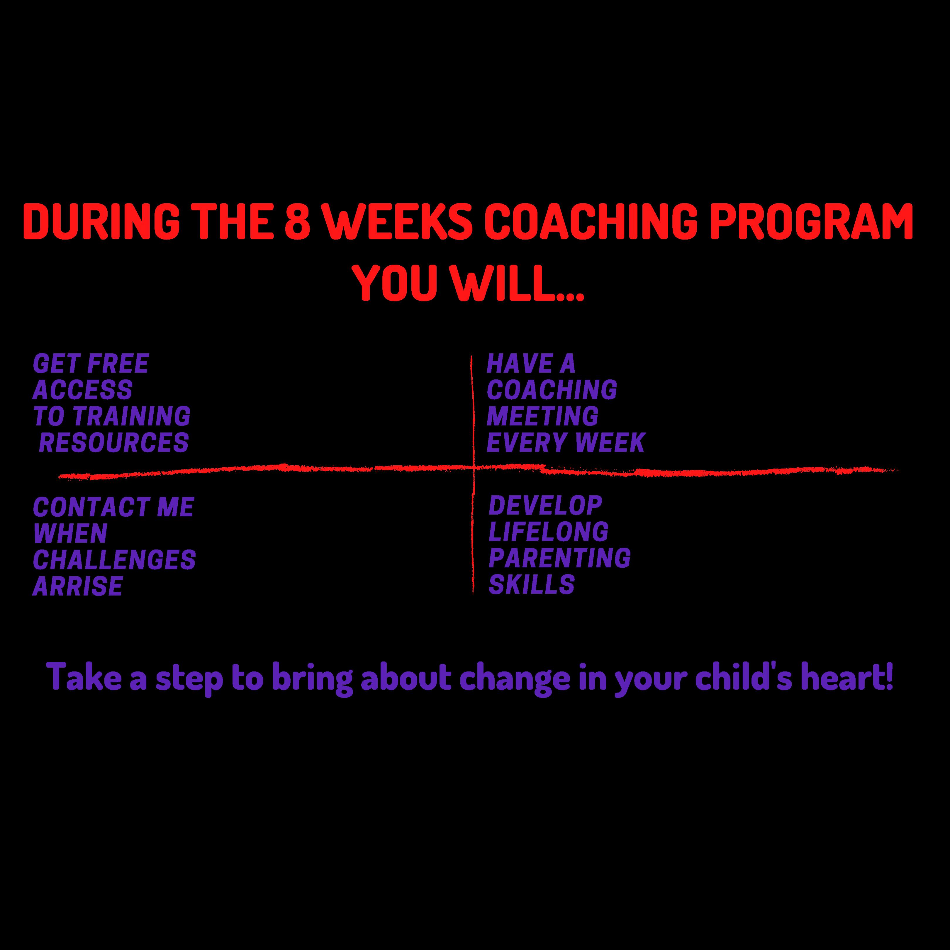 1:1 Parenting Coaching Program 8 Weeks