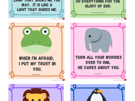 Use these cards to memorize scripture verses with your child.