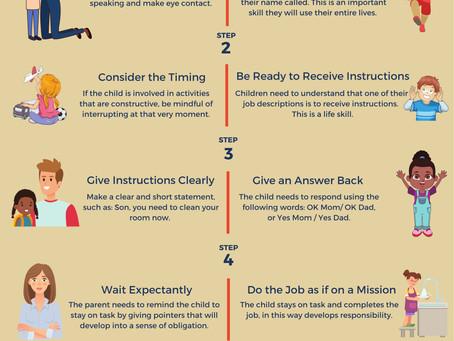 When children don´t listen, teach them to follow instructions