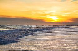white water sunset