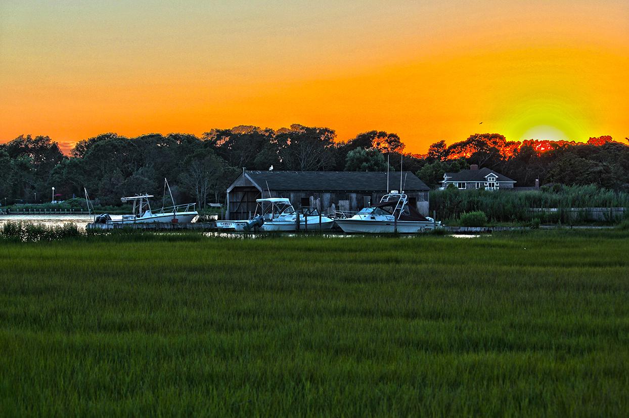 boathouse sunset