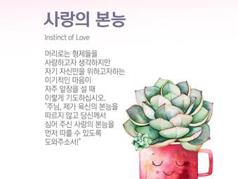 [1분묵상] 사랑의 본능