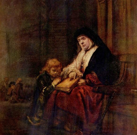 램브란트 - 티모테오와 할머니