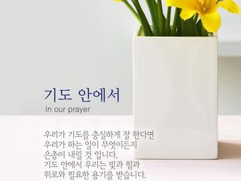 [1분묵상]  기도 안에서