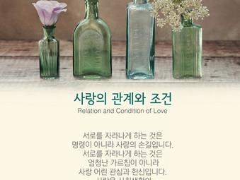 [1분묵상] 사랑의 관계와 조건